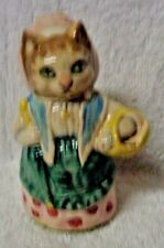 Royal Albert Beatrix  Potter Cousin Riboy Blue Dress And Basket Figurine