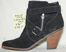 """3-3/4"""" heel Size 13 M Dolce Vita CONNARY black suede zipper ankle boot - 239T"""