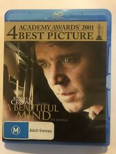 A Beautiful Mind (Blu-ray, 2013) Like New Movie 🍿 Rated M Russell Crowe