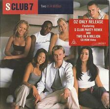 S CLUB 7 2 IN A MILLION / S CLUB PARTY+VIDEO CD ROM PAUL CATTERMOLE OZ ONLY 2000