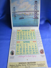 Vtg Johnson Brothers 1939 Wall Calendar Minnesota De Laval Milk Cream Separators