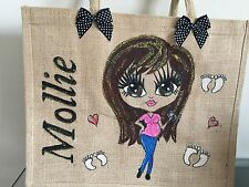 PERSONALISED LARGE HAND PAINTED JUTE BAG GIFT 16TH 21ST 30TH GIFTS FOR ALL