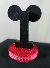 Mickey Mouse Theme Birthday Party Centerpiece Table Number Decoration ANY AGE