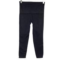Spanx Crop Leggings Black Solid Nylon Spandex Women's Large PT-366
