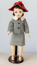 """Vintage 1964 Madame Alexander 15""""-16"""" Elise in rare ORIGINAL HOUNDSTOOTH Suit"""