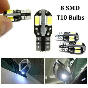 T10 CAR BULBS LED ERROR FREE CANBUS 8 SMD XENON WHITE W5W 501 SIDE LIGHT BULB UK