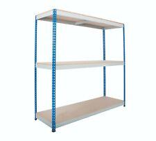 More details for heavy rivet 3 level shelving solution- 2440 mm width shelving unit
