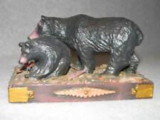 Lou Schifferl Lws Black Bear & Cub Tableau Bear Figures Midwest of Cannon Falls
