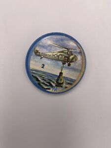 1960s KRUN-CHEE Potato Chips Space Coins  Space Magic #2 US Marines Helicopter