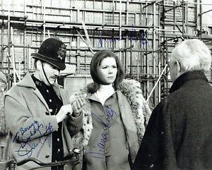Avengers Diana Rigg (Signed Twice) & David Lodge Signed Photo RARE AFTAL/UACC RD