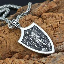 ST.MICHAEL ARCHANGEL CROSS SHIELD PRAYER MEDAL Amulet Knot PENDANT NECKLACE