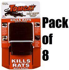 (8) MOTOMCO 0361710 TOMCAT REUSEABLE RAT SNAP TRAPS