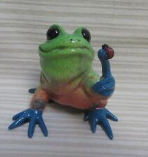 Kitty's Critters Freda Frog with Ladybug Figurine 2004