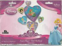 "Anagram Disney Princess Hearts SuperShape Foil Balloon 28"" x 34"""