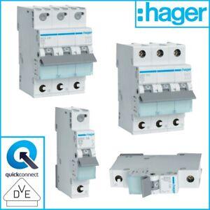 Hager Sicherung LS Leitungsschutzschalter 1P 3P MBS MCS Sicherungsautomat 16A