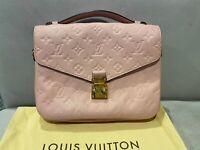 Authentic Louis Vuitton Pochette Metis In Rose Colour