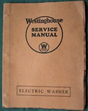 Westinghouse Electric Clothes Washer 1932 Service Repair Manual