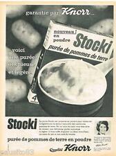 PUBLICITE ADVERTISING 0105  1964  KNORR  la purée de pommes de terre  STOCKI