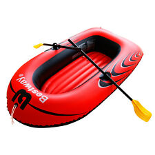 Bestway Inflatable Raft Boat Dingy Set w/  2 Oars + Foot Pump NEW