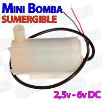 Mini Bomba Sumergible de Agua DC 3V 120L/H Arduino 2,5-6v