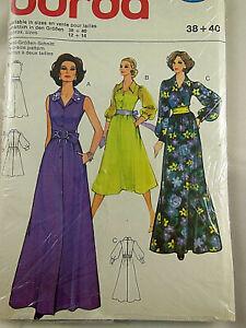 BURDA 27243 Retro Vintage dress Maxi long short Pattern UNCUT UNOPENED 12 14
