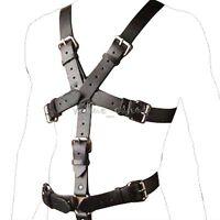 Men's PU Leather Full Body Chest Harness Buckle Strap Lingerie Clubwear Costume