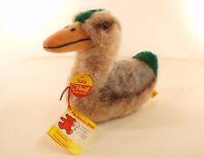 Steiff 3025/15 canard TULLA duck peluche 15 cm hauteur neuf 1976