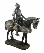 "13"" Height Large Medieval Knight On Horse Calvary Royal Guard Statue Figurine"