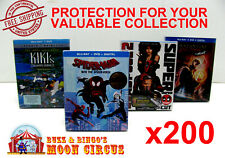 200x BLU-RAY WITH SLIPCOVER (SIZE A)- CLEAR PROTECTIVE BOX PROTECTOR SLEEVE CASE
