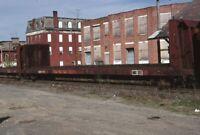 NER Railroad Flatbed Train HOOSICK FALLS Original 1990 Photo Slide