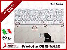 Tastiera Notebook Sony Vaio SVE15 SVE 15 (BIANCA) (CON FRAME) p/n 149094711