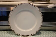 Pottery Barn Gold Star Rimmed ROUND Serving Platter WHITE - HOLIDAY READY VIN