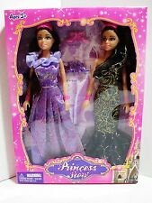 "New Set of 2 Princess Dolls - Princess Story Dolls with 2 Pair Shoes - 10"" Tall"