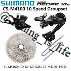 Brand New SHIMANO Deore M4100 1X10 Speed MTB Groupset 4 Pcs 42T RD-M4120 SGS