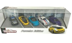 Majorette Porsche Edition Set of 5 Cars Boxed Toy Car Giftpack Scale 1/64 NEW