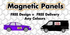 Magnetic vehicle signs - pair of 600 mm x300 mm car / van / lorry