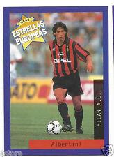 Rare '96 Panini Italy's EUROPEAN SUPER STAR Demetrio Albertini with AC Milan