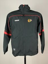 Youth Chicago Blackhawks Full Zip Jacket Authentic NHL Center Ice Hockey Small