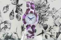 Orologio Donna HIP HOP Leopardato Viola Gomma Best Price -50% Idea Regalo