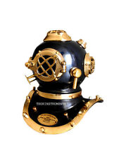 COLLECTIBLES MORSE U.S NAVY DIVING HELMET  SOLID BRASS & IRON ARMOUR GIFT