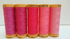 Gutermann Natural Cotton Sewing Thread 100m set of 5 - FN13 - Bright/Hot Pinks