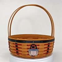 "Longaberger Proudly American Vintage 2002 Basket 10"" Diameter Collector's Item"