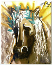 Salvador DALI Glazed TILE Bucephale Horse 9-3/4 x 7-3/4