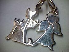 Anhänger Partneranhänger Engel & Teufel in Silber 925
