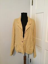 Chico's 100% Turkish Linen Jacket with Foldable Safari Button Sleeves size 3