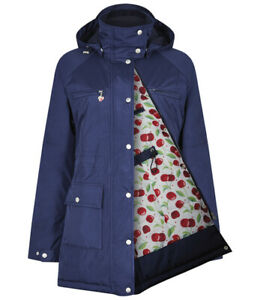 Ladies Breathable Waterproof Jacket with Detachable Fleece Lined Hooded and Padd