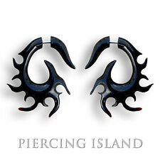 1 Paar ! Ohrringe GESCHRAUBT Fake Piercing Sichel Horn Plug F011