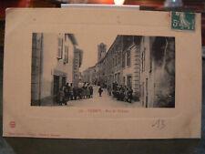 cpa 71 uchizy rue du chateau  animee