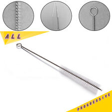 HEARING AID LONG CLEANING WIRE ROD NYLON-BRISTLE O-RING-HOOK BRUSH TUBE TOOL