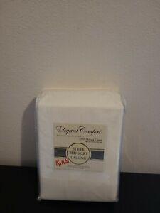 Elegant Comfort 100% Egyptian cotton Striple Bed Skirt # California King